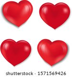 red hearts set isolated white...   Shutterstock .eps vector #1571569426