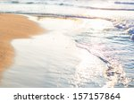 soft wave of the sea on the... | Shutterstock . vector #157157864