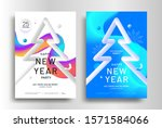 merry christmas modern poster... | Shutterstock .eps vector #1571584066