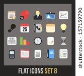 flat icons set 8   businnes...