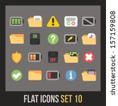 flat icons set 10   interface...