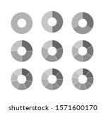 set of black and white circle... | Shutterstock .eps vector #1571600170