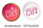 special gift stickers   Shutterstock .eps vector #157161653
