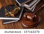 mallet  legal code and scales... | Shutterstock . vector #157163270