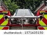 Firemans Ladder On Top Of Fire...