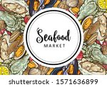 Vector Seafood Market  Cafe...