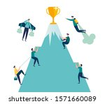 vector illustration  goal... | Shutterstock .eps vector #1571660089
