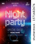 club party flyer. night starry... | Shutterstock .eps vector #1571682676