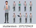 set of businessman creation... | Shutterstock .eps vector #1571729419