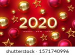 happy new 2020 year. holiday... | Shutterstock .eps vector #1571740996