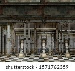 interior industrial grunge wall ... | Shutterstock . vector #1571762359