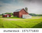 A Beautiful Old Barn With A...