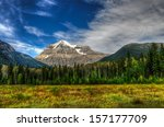 majestic mount robson  mount... | Shutterstock . vector #157177709
