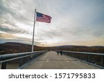 American Flag On View In A...