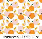 orange fruit design pattern...   Shutterstock .eps vector #1571813620