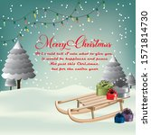 beautiful christmas festival... | Shutterstock .eps vector #1571814730