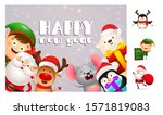 happy new year postcard with... | Shutterstock .eps vector #1571819083