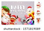 happy new year postcard with... | Shutterstock .eps vector #1571819089