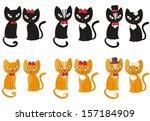set of cats   vector... | Shutterstock .eps vector #157184909