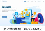 online business landing page... | Shutterstock .eps vector #1571853250