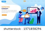 marketing concept landing page... | Shutterstock .eps vector #1571858296