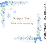 botanical blue frames with...   Shutterstock .eps vector #1571862616