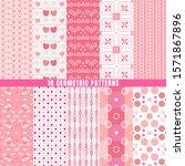 seamless geometric patterns set ... | Shutterstock .eps vector #1571867896