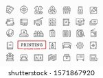 icons for for printing service. ... | Shutterstock .eps vector #1571867920