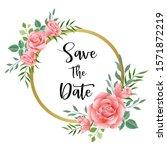 wedding floral invite ... | Shutterstock .eps vector #1571872219