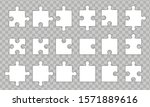 Set Puzzle Pieces Isolated On...