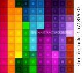 color cube geometric abstract... | Shutterstock .eps vector #157189970