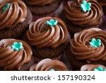 chocolate cupcake  set of...   Shutterstock . vector #157190324