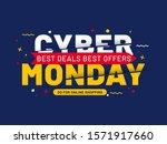 cyber monday sale. best deals... | Shutterstock .eps vector #1571917660