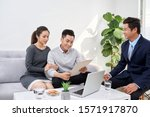 successful lawyer giving... | Shutterstock . vector #1571917870