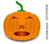 pumpkins for halloween. vector... | Shutterstock .eps vector #157191944