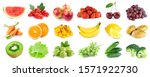 collection of color fruits and... | Shutterstock . vector #1571922730