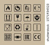 packaging icons  package signs... | Shutterstock .eps vector #1571934523
