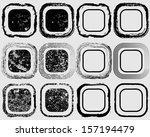 set of black grunge shapes   | Shutterstock .eps vector #157194479