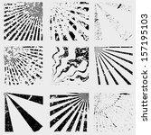 grunge set stripe. vector... | Shutterstock .eps vector #157195103