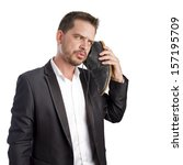 young business man using his...   Shutterstock . vector #157195709