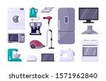 household appliance color flat... | Shutterstock .eps vector #1571962840