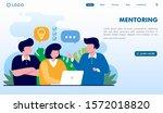 team work   mentoring landing... | Shutterstock .eps vector #1572018820