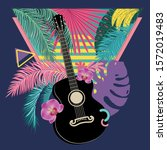 music design with retro... | Shutterstock . vector #1572019483