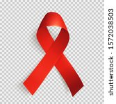 realistic red ribbon isolated... | Shutterstock .eps vector #1572038503