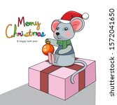merry christmas an happy new... | Shutterstock .eps vector #1572041650