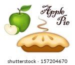apple pie isolated on white... | Shutterstock .eps vector #157204670