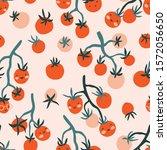 vector hand drawn organic food...   Shutterstock .eps vector #1572056650