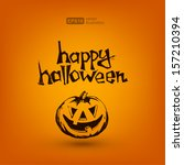 happy halloween | Shutterstock .eps vector #157210394