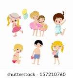 group of children | Shutterstock .eps vector #157210760
