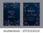 set of modern geometric luxury...   Shutterstock .eps vector #1572113113